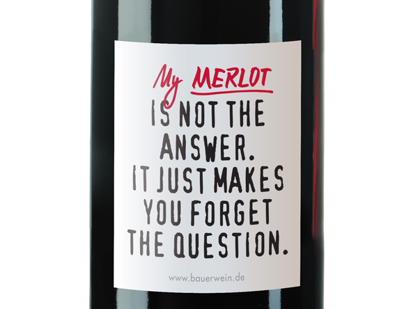 "Afbeelding van Emil Bauer ""Makes you Forget"" Merlot"